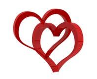 Dwa czerwonego serca Obraz Royalty Free