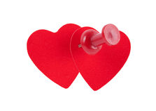 Dwa czerwonego serca Obrazy Stock