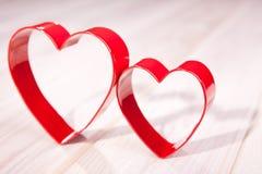 Dwa czerwonego serca Zdjęcia Royalty Free