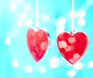 Dwa czerwonego serca jako tło valentines dnia pojęcie, 8 dodatkowy ai jako tła karty dzień eps kartoteki powitanie wizytacyjny te Obrazy Royalty Free