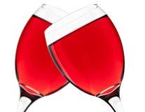 Dwa czerwonego wina glasess Fotografia Stock