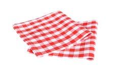 Dwa czerwonej stołowej pieluchy na białym tle Obrazy Stock