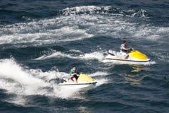 Dwa dżetowej narty jedzie w Acapulco Obrazy Stock
