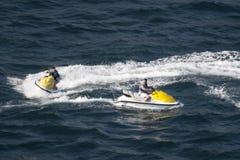 Dwa dżetowej narty w Acapulco zatoce Obrazy Royalty Free
