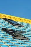 Dwa dachowego okno na nowym dachu dom fotografia royalty free