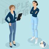 Dwa damy komunikuje w biurze royalty ilustracja