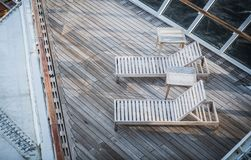 Dwa Deckchairs statek wycieczkowy Zdjęcia Stock