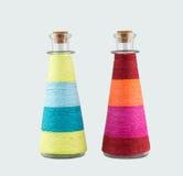 Dwa dekoracyjnej butelki Fotografia Stock