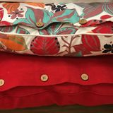 Dwa dekoracyjnej poduszki ilustracja wektor