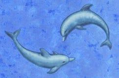 dwa delfiny Zdjęcia Royalty Free