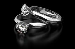 Diamentowi pierścionki Obraz Royalty Free