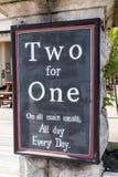 Dwa dla Jeden Zdjęcia Stock