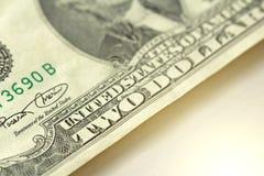 Dwa dolara Z Jeden notatką 2 dolara Obrazy Stock