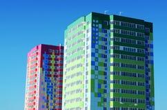 dwa domy kolor Obraz Royalty Free