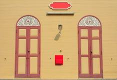 Dwa drewna drzwi Obraz Stock