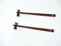 Dwa drewnianego chopsticks na barze Zdjęcie Stock