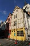 Dwa drewnianego domu 15 wiek w Montrichard, Francja Obrazy Royalty Free