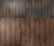 Dwa drewnianej tekstury Obraz Royalty Free