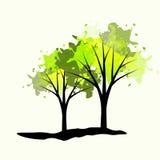 Dwa drzewa Zdjęcia Royalty Free
