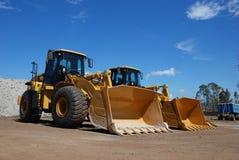 dwa duże budowy pojazdu Fotografia Stock