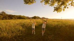 Dwa dzieciak dziewczyn sztuka z obręczem zbiory