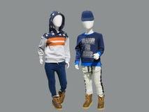Dwa dziecka mannequins Fotografia Stock
