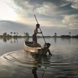 DWA dziecka rybak Zdjęcie Royalty Free