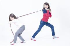 Dwa dziewczyn Bawić się Obraz Royalty Free