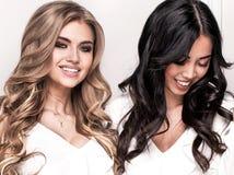 Dwa dziewczyn uroczy pozować Obraz Royalty Free