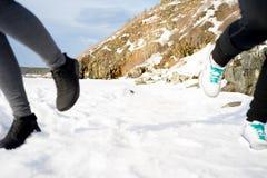 Dwa dziewczyny jogging Zdjęcie Royalty Free