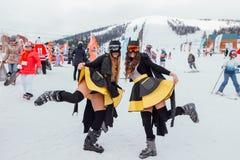 Dwa dziewczyny w kostiumy Batman Zdjęcia Royalty Free