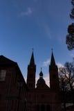 Dwa dzwonkowego wierza przy kościół Obraz Royalty Free