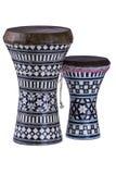 Dwa egipcjanów darbuka Fotografia Stock