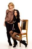 Dwa eleganckiego modnego przyjaciela Obraz Royalty Free