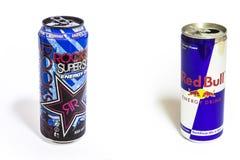 Dwa energetycznego napoju Obraz Stock
