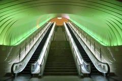 Dwa eskalatoru z zielone światło koszt stały Obraz Royalty Free