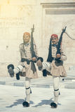 Dwa evzone strażnik z karabinem 2 Fotografia Royalty Free