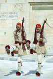 Dwa evzone strażnik z karabinem 4 Fotografia Royalty Free