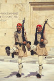 Dwa evzone strażnik z karabinem 5 Obraz Royalty Free
