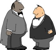 Dwa faceta w smokingach Zdjęcia Stock
