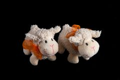 Dwa Faszerującej cakiel zabawki Zdjęcie Stock