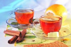 Dwa filiżanki herbata Zdjęcia Royalty Free