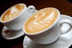 Dwa filiżanki kawy obraz stock