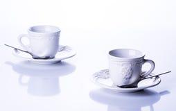 Dwa filiżanki dla herbaty Zdjęcia Royalty Free