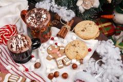 Dwa filiżanki kakao Fotografia Stock
