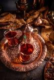 Dwa fili?anki Turecka herbata zdjęcia stock