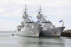 Dwa fregata zdjęcia stock