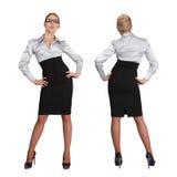 Dwa frontowy i tylni bizneswomanu widok - obrazy stock
