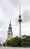 Dwa górują, Berlin Obraz Royalty Free