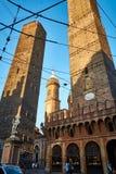 Dwa górują w Bologna Obraz Royalty Free